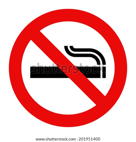 No smoking sign. Prohibited symbol isolated on white background - stock vector