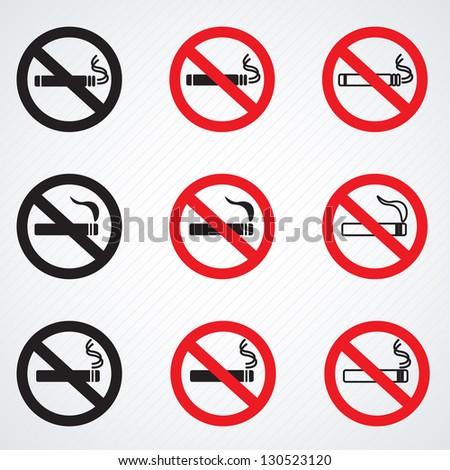 No smoking sign vector - stock vector
