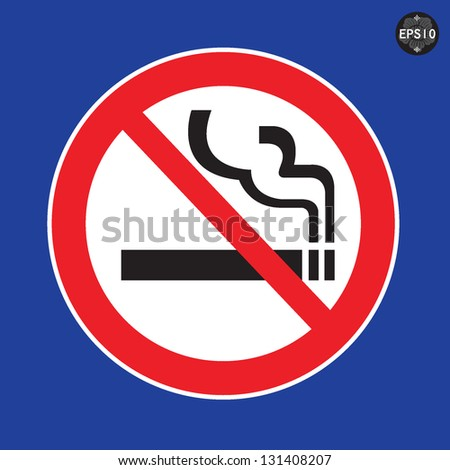 No Smoking Sign, vector