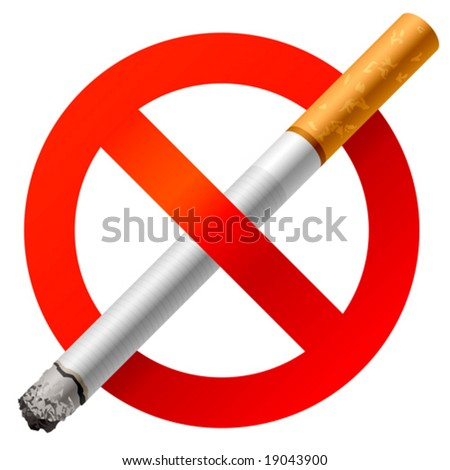 No Smoking sign. Vector. - stock vector