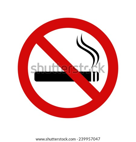 No smoking sign, vector illustration