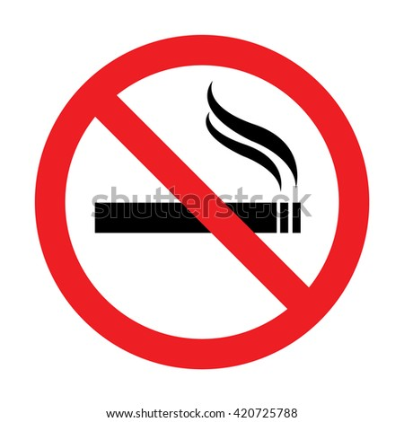 No smoking sign.Vector illustration