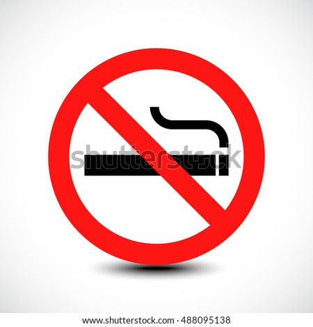 No smoking sign. Vector illustration