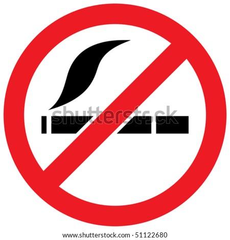 No smoking sign - vector illustration - stock vector