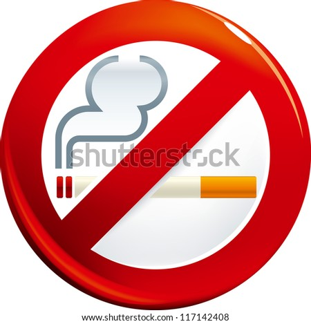 No smoking signal - stock vector