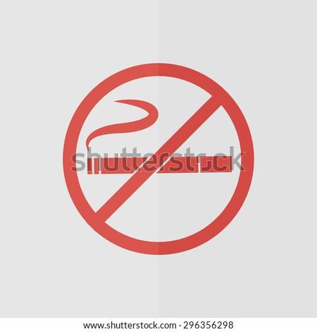 no smoking vector icon. Flat design - stock vector