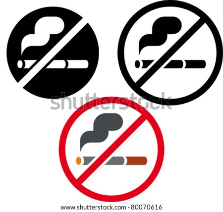No smoking vector sign - stock vector
