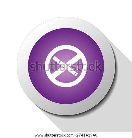 No smoking, web icon. Vector design - stock vector