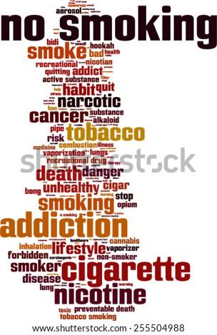 No smoking word cloud concept. Vector illustration - stock vector