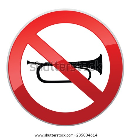 No sound sign. Keep Quiet Vector Symbol. - stock vector