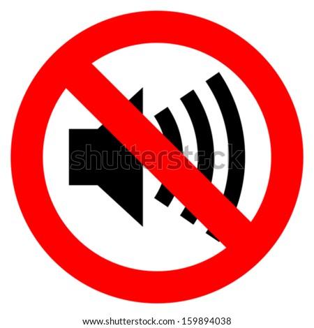 No sound vector sign - stock vector