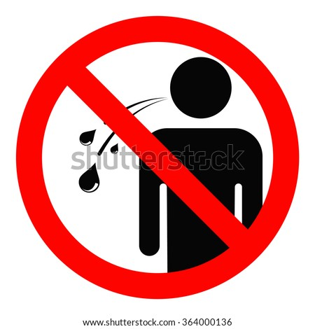 No Spitting Sign Stock Vector 364000136 - Shutterstock  No