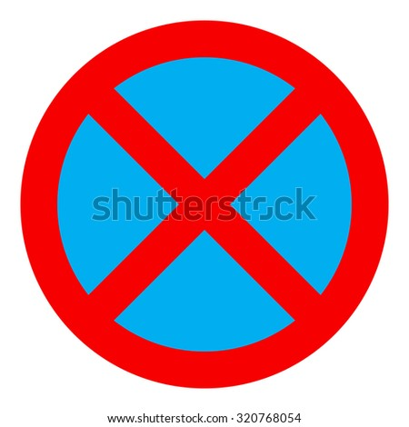 No stopping and parking sign icon, isolated on white background, vector illustration. - stock vector
