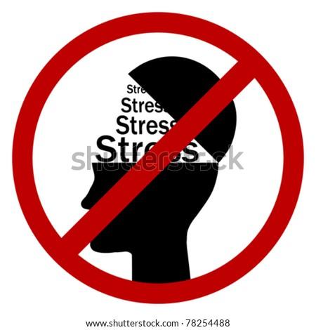 no stress - stock vector