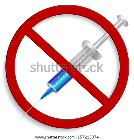no syringe on a white background - stock vector