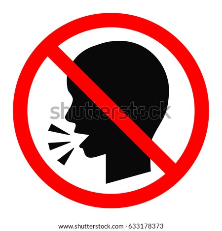 No talking sign. Vector illustration.