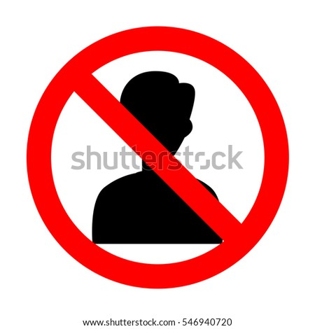 No User avatar illustration. Anonymous sign.No.