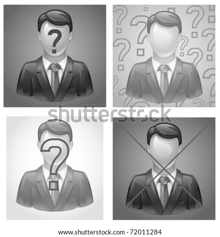 no user profile picture with qestion mark - stock vector