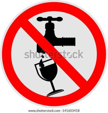 No Water, icon vector - stock vector