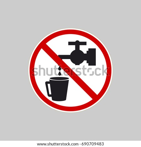 No Water Icon Water Faucet Crossed Stock Vector 690709483 - Shutterstock