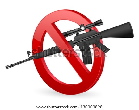 No weapon sign on a white background. - stock vector