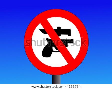 no weapons guns or knives sign illustration