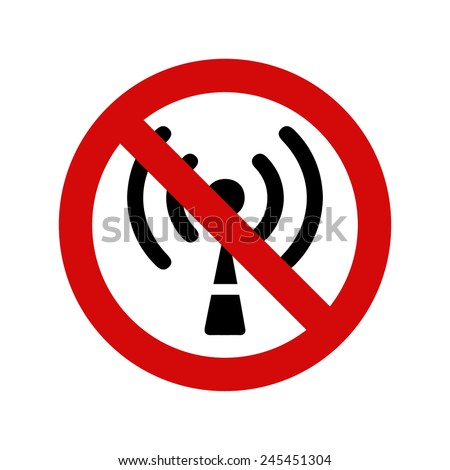 No wifi signal, vector illustration - stock vector