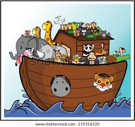 noah ark - stock vector