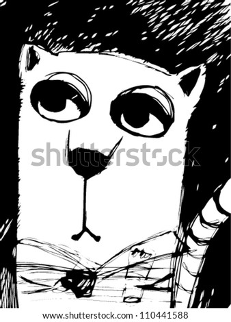 noble cat - stock vector