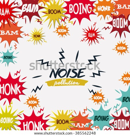 noise pollution design, vector illustration eps10 graphic