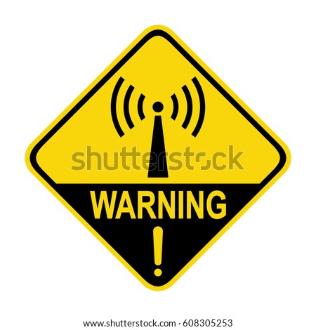 Nonionizing Radiation Hazard Sign Symbol Stock Vector 608305253