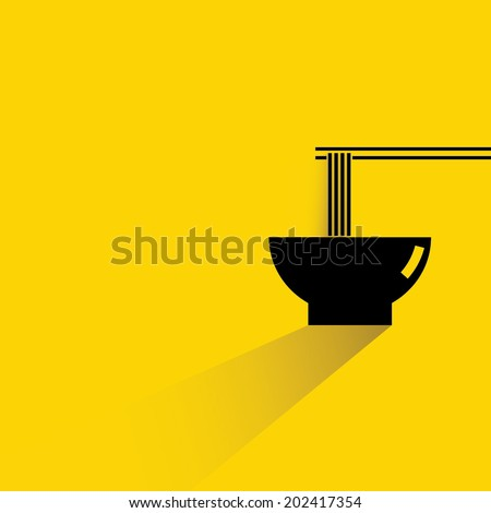 noodle - stock vector