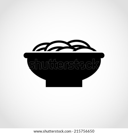 Noodle Icon Isolated on White Background - stock vector