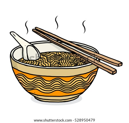 noodles bowl cartoon vector illustration hand stock vector 528950479 shutterstock hot lunch clipart black and white hot lunch tray clipart