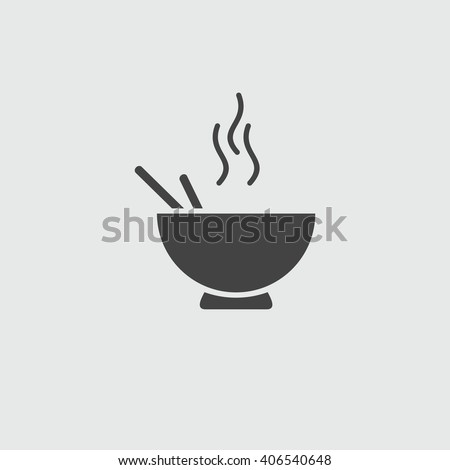 Noodles vector sign illustration icon. - stock vector