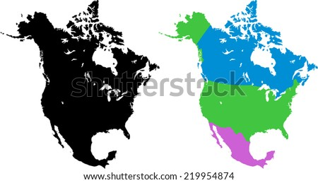 North America - stock vector