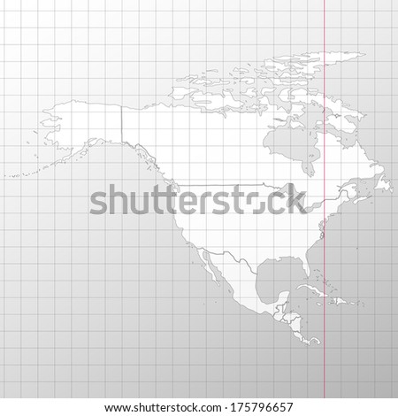 North america in a cage on a white background vector