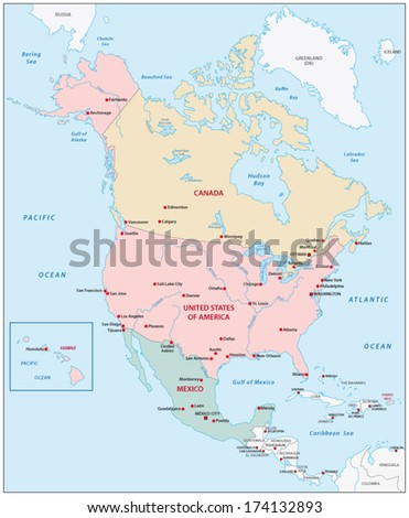 North America Map Stock Images RoyaltyFree Images Vectors - North america map in gujarati