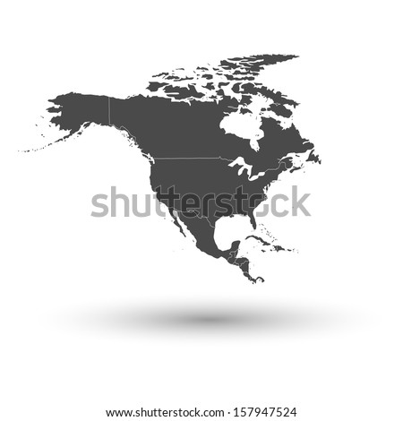 north america map background vector - stock vector