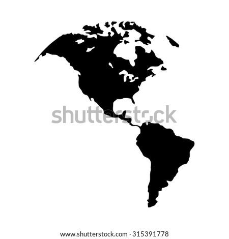 North America Map Canada Us America Usa South America Latin