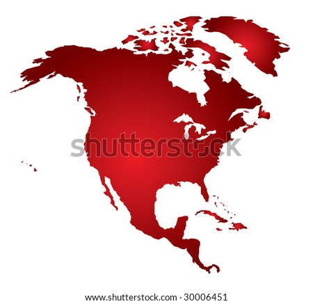 North America. Vector - stock vector