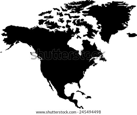 North America Vector Map