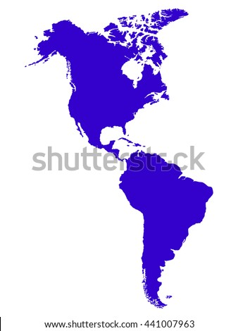 North South America Map Stock Vector 441007963 Shutterstock