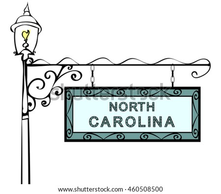 North Carolina retro pointer lamppost.