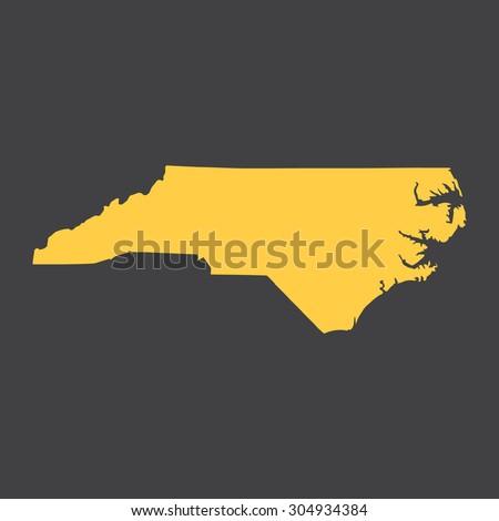 North Carolina state border,map. Vector EPS8 - stock vector