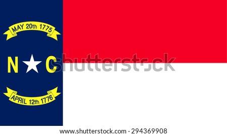 North Carolina state national flag. Vector EPS8 - stock vector