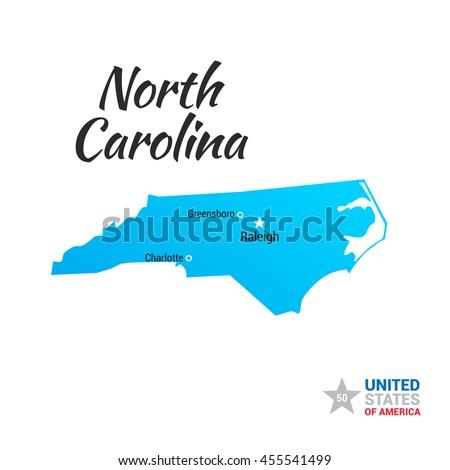 North Carolina Usa State Map Stock Vector Shutterstock - North carolina usa map
