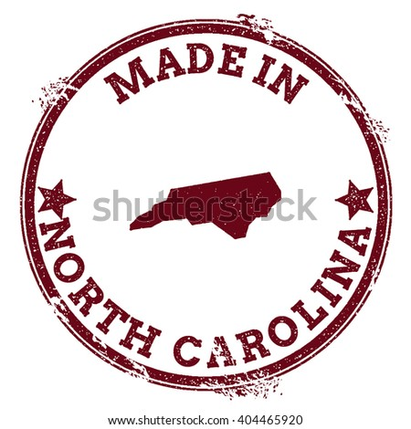 North Carolina Vector Seal Vintage Usa Stock Vector 404465920