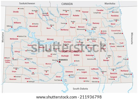 North Dakota Map Stock Images RoyaltyFree Images Vectors - Map of south and north dakota