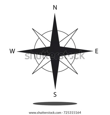 North direction compass icon - Vector graphic